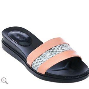 LOGO by Lori Goldstein Slip on Footbed Sandals